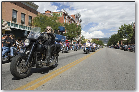 An endless stream of bikers kept the spectators lining Main Avenue in rapt attention on Sunday afternoon.