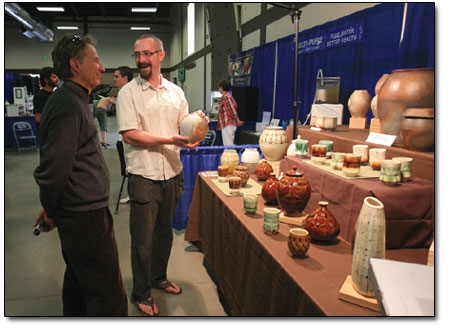 Even artists, such as local potter Adam Field, showed off earth-friendly wares.