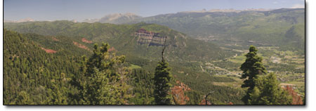 Nothing but summer in this view from the Animas Mountain overlook.